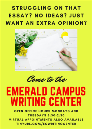 Student Writing Center Flyer