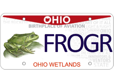 Ohio wetlands license plate