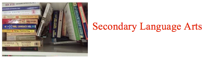 Secondary Language Arts graphic