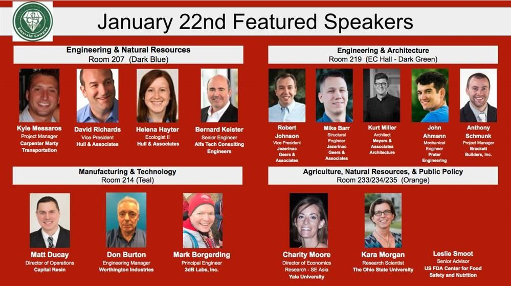 January 2020 Event Speakers