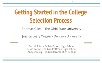 Getting Started in the College Selection Process